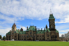 The building of Canadian Parliament Royalty Free Stock Photos