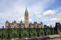 The building of Canadian Parliament Royalty Free Stock Image