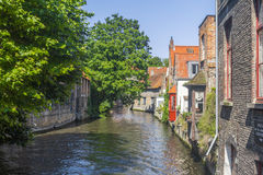 Building canal Bruges Belgium Royalty Free Stock Images