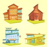 Building Cartoon Set Stock Photo