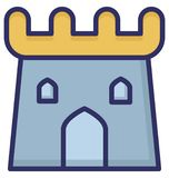 Building, castle Isolated Vector Icon which can be easily edit or modified. royalty free illustration