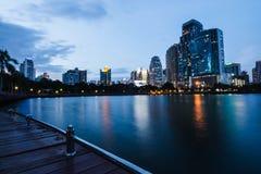 Building in center of Bangkok stock photo