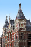 The building of the central station in Amsterdam Royalty Free Stock Image