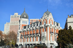 A building in the centre of Madrid - Spain. Typical architecture in Madrid (Spain Stock Photos