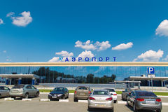 The building of Chelyabinsk Airport Stock Photos