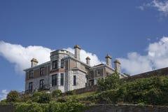 Building with chimneys Brixham Torbay Devon Endland UK Royalty Free Stock Images