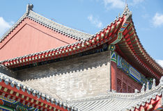 Building with chinese-style roof. Stock Images