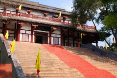 Building of the Chinese temple. The old Chinese temple constructed in mountains Stock Photo