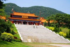 Building of the Chinese temple. The old Chinese temple constructed in mountains Royalty Free Stock Photos