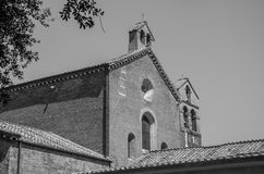 The building of the Church of the Abbazia delle Tre Fontane, in the martyrdom of the apostle Paul in Rome, Italy Stock Images