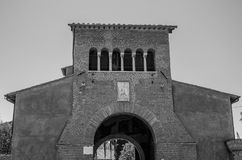 The building of the Church of the Abbazia delle Tre Fontane, in the martyrdom of the apostle Paul in Rome, Italy Stock Photography