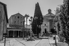 The building of the Church of the Abbazia delle Tre Fontane, in the martyrdom of the apostle Paul in Rome, Italy Royalty Free Stock Photography