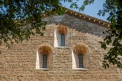 The building of the Church of the Abbazia delle Tre Fontane, in the martyrdom of the apostle Paul in Rome, Italy Royalty Free Stock Images