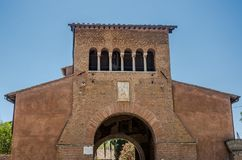 The building of the Church of the Abbazia delle Tre Fontane, in the martyrdom of the apostle Paul in Rome, Italy Royalty Free Stock Photos