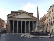 The Pantheon is a former Roman temple, now a church, in Rome, Italy, royalty free stock photo