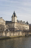 Building on Cite island in Paris Stock Photography