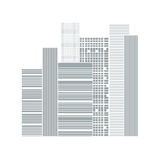 Building and City Illustration Royalty Free Stock Photos