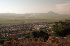 Building , city, Nature, Lansdcape. Beautiful  view  from Transylvania, Romania Stock Image