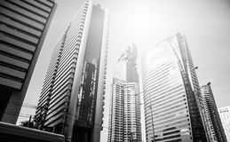 Building in the city on Sathorn road. Bangkok Thailand Royalty Free Stock Photography
