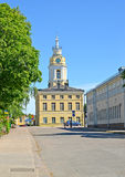 Building of a city town hall in the long term Maariankatu Street. Hamina, Finland Stock Photos