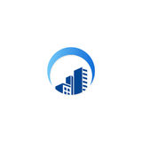 Building cityscape construction logo Royalty Free Stock Photos