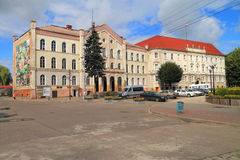 Building of civil court of Tilsit, nowadays city administration of Sovetsk Royalty Free Stock Image