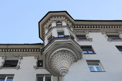 Building. Classical building with elegant balcony Royalty Free Stock Photo