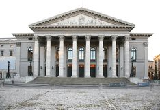 Building of classical style with columns. Theather Stock Image