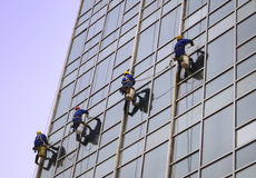 Building Cleaning,Dustman Royalty Free Stock Photos