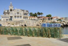 Building in the coast of Cascais Stock Photography