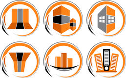 Building collection logo Stock Image