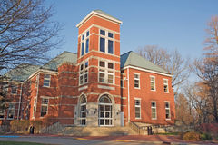 Building on a college campus in Indiana royalty free stock image