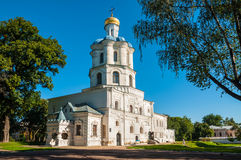 Building of collegium in Chernihiv, Ukraine. Chernihiv, Ukraine - August 28, 2016: Collegium medieval building - the first higher religious educational Royalty Free Stock Images