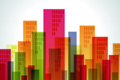 Building of color. Many buildings of some colors Royalty Free Stock Image
