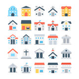 Building Colored Vector Icons 4 Stock Photo