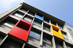 Building with colorful windows Stock Images