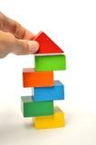Building colors block tower Stock Photos
