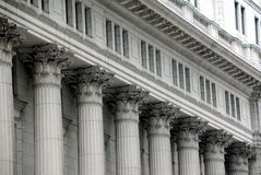 Building with columns royalty free stock photography