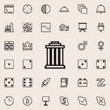 Building with columns icon. Detailed set of minimalistic line icons. Premium graphic design. One of the collection icons for websi. Tes, web design, mobile app Stock Images