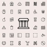 Building with columns icon. Detailed set of minimalistic line icons. Premium graphic design. One of the collection icons for websi. Tes, web design, mobile app Stock Image
