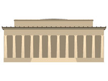 Building with columns. Illustration building. On the white background. Vector Royalty Free Stock Photo