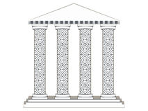 Building with columns. Paper building. Column. Doric, Roman style. Royalty Free Stock Photo