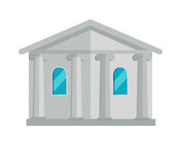 Building with Columns Vector Illustration. Stock Photos