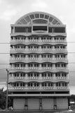 Building columns windows facade exterior modern design black white Royalty Free Stock Photography