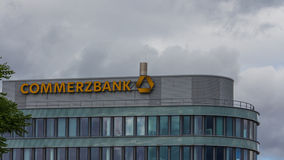 Building from Commerzbank Royalty Free Stock Photography