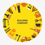 Building company emblem Stock Photography