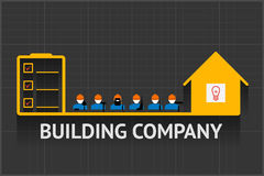 Building company emblem Stock Photo