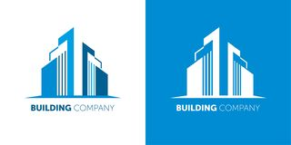 Building company logo. Modern Logo for real estate companies and home services. vector illustration
