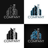 Building company set logotype. Real Estate, Construction. Vector Illustration Stock Images