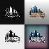 Building company set logotype Stock Photos